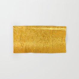 Crinkled Gold Foil Texture Christmas/ Holiday Hand & Bath Towel