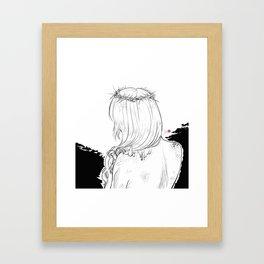 Inktober 2018: Prickly Framed Art Print