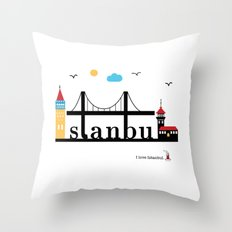 Istanbul. Throw Pillow