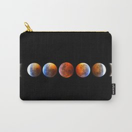 2019 Blood Wolf Moon Lunar Eclipse from Connecticut Carry-All Pouch