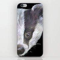 badger iPhone & iPod Skins featuring Badger! by Alison Jacobs