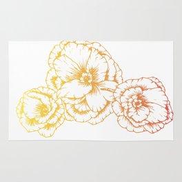 Sunshine Poppies Rug