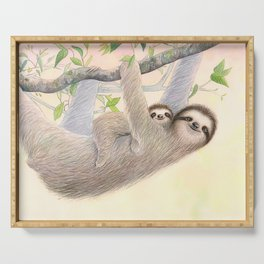 Cradle Me: Mama & Baby Sloth Serving Tray