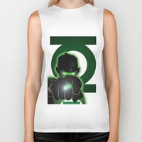 green lantern Biker Tanks featuring Green Lantern by Adam Surin Max