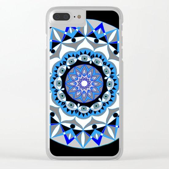 My Peace Mandhala | Secret Geometry | Energy Symbols Clear iPhone Case