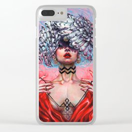 BLACK LODGE Clear iPhone Case