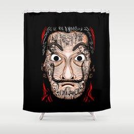 la casa dwe papel Shower Curtain