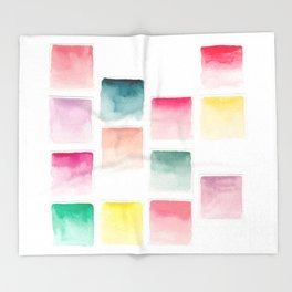 Summer Paint Chips Flat Lay Photograph Throw Blanket