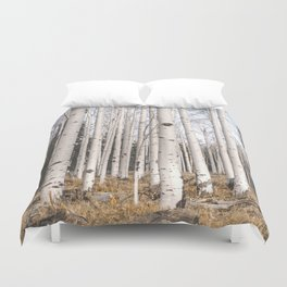 Trees of Reason - Birch Forest Duvet Cover