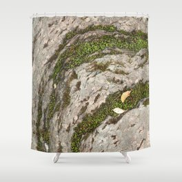 Mossy Stone Curves Shower Curtain