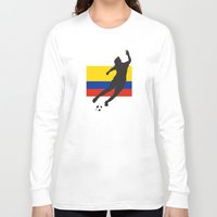 colombia Long Sleeve T-shirts featuring Colombia - WWC by Alrkeaton