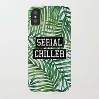 tupac iPhone & iPod Cases featuring Serial Chiller by Text Guy