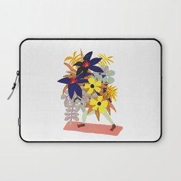 Floral Yoga Babe Laptop Sleeve
