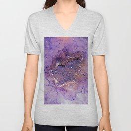Amethyst Geode Unisex V-Neck