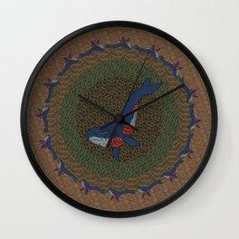 Whale Fall Wall Clock
