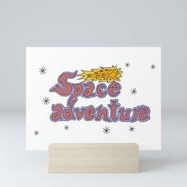 Space adventure Mini Art Print