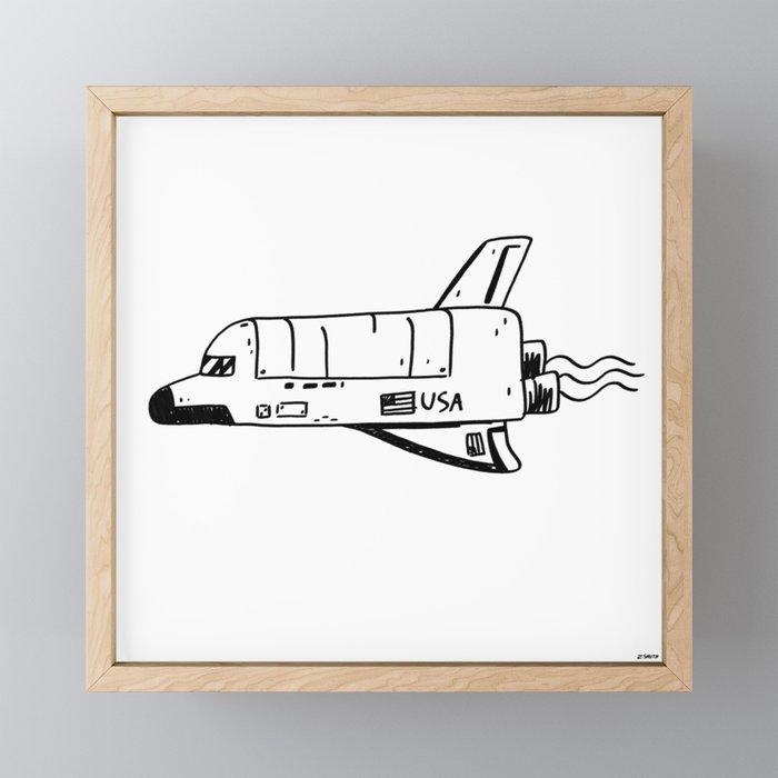 SPACE SHUTTLE Framed Mini Art Print