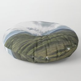 Scottish Mountains with Rain Clouds Floor Pillow