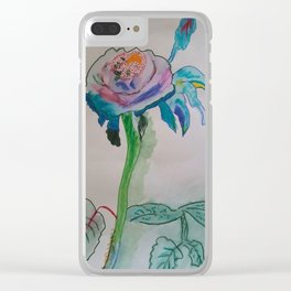 Flower inspiration modern paintings by Christian T. Clear iPhone Case