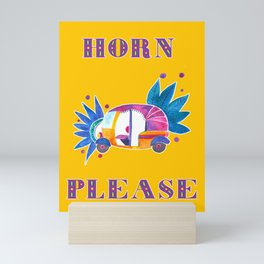 Horn please rickshaw Mini Art Print