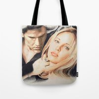 buffy the vampire slayer Tote Bags featuring Buffy - The Vampire Slayer by ChiaraG27