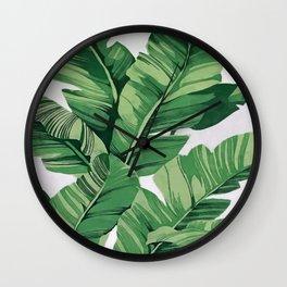 Tropical banana leaves VI Wall Clock