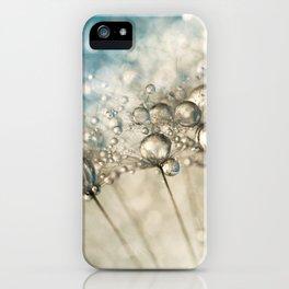 Sapphire & Silver Sparkle iPhone Case