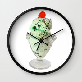 Pistachio Ice Cream Wall Clock