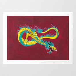 dragons fly  Art Print