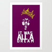 notorious big Art Prints featuring Notorious! by JM Designs
