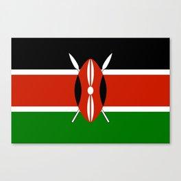 Kenyan national flag - Authentic version Canvas Print