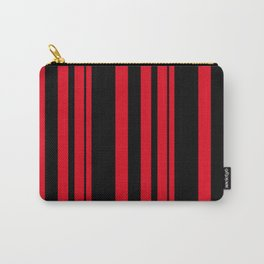 Black and red striped . Carry-All Pouch
