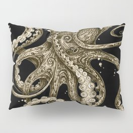 Octopsychedelia Sepia Pillow Sham
