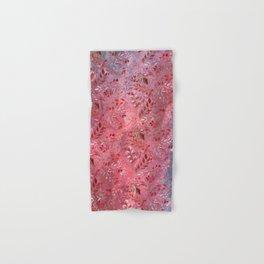 Urban Red Flourish Hand & Bath Towel