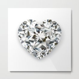 DIAMOND HEART Metal Print