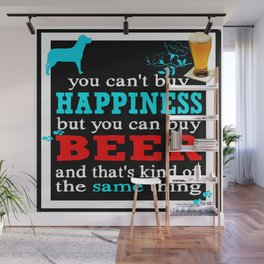 BEER AND HAPPINESS Wall Mural