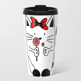 Kitten WITH CANDY Travel Mug