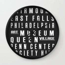 Philadelphia City Subway Sign Wall Clock