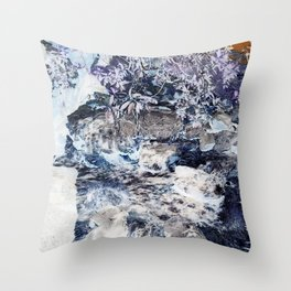 Cinder Leaves Throw Pillow