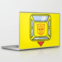 transformers Laptop & iPad Skins featuring Transformers - Bumblebee by CaptainLaserBeam