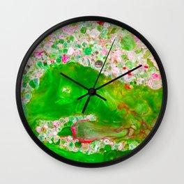 The Flower Garden of Klimt Wall Clock