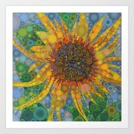 Percolated Sunflower Art Print
