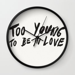 Young Unlover Wall Clock