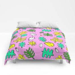 Pink Tropic Comforters