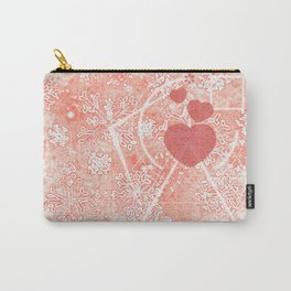 Living Coral Winter- Love Carry-All Pouch