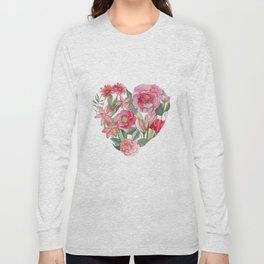 heart and flower mean love Long Sleeve T-shirt