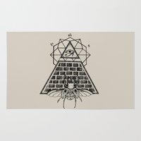 pyramid Area & Throw Rugs featuring Pyramid by alesaenzart