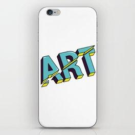 Art cut out design iPhone Skin