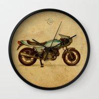 ducati Wall Clocks featuring Ducati 900SS Darmah 1979 by Larsson Stevensem