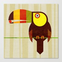 toucan Canvas Prints featuring Toucan by Scott Partridge